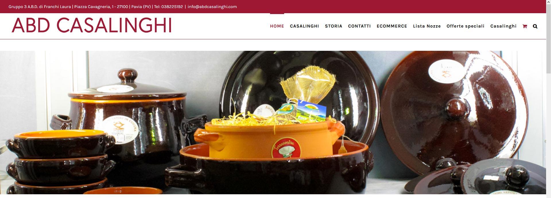 Abd casalinghi annuncia il nuovo sito gruppo 3 a b d - Casalinghi design ...
