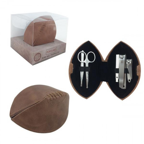 SET MANICURE RUGBY IN PELLE CON SCATOLA REGALO