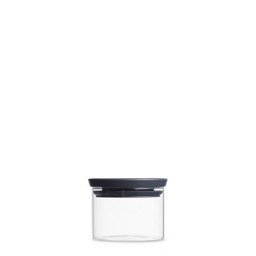 BARATTOLO STACKABLE GLASS JAR 0.3 LITRI, IN VETRO BOROSILICATO - DARK GREY