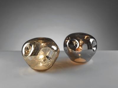 Mascagni Lampada '70s' in vetro specchiato da tavolo